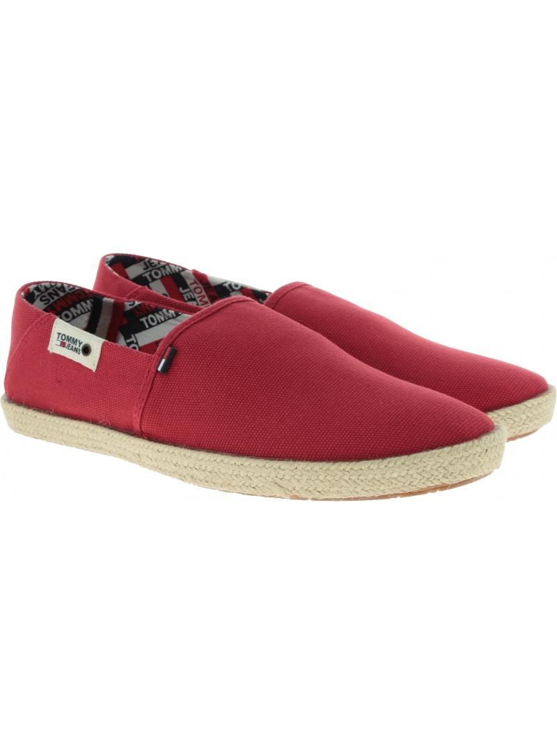 Czerwone Espadryle Męskie Tommy Hilfiger Jeans Summer Shoe EM0EM00279 611