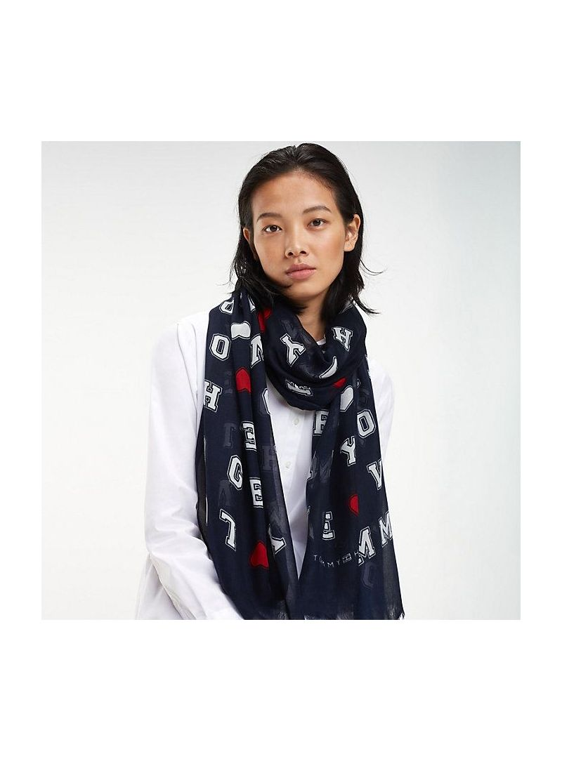 TOMMY HILFIGER LOVE TOMMY SCARF AW0AW06591 413