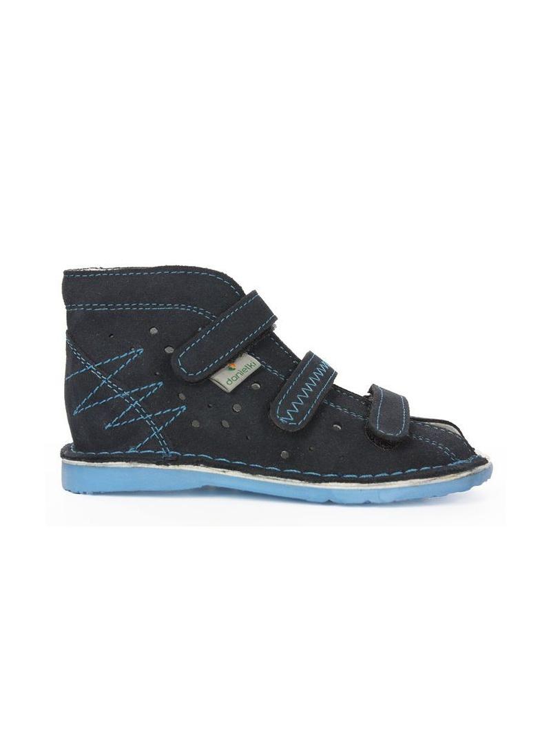 Sandałki Profilaktyczne DANIELKI T115 Granatowe Blue