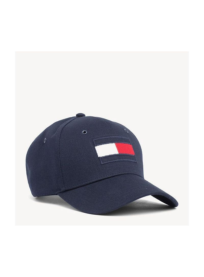 Granatowa Czapka TOMMY Hilfiger Big Flag Cap AM0AM04508 413
