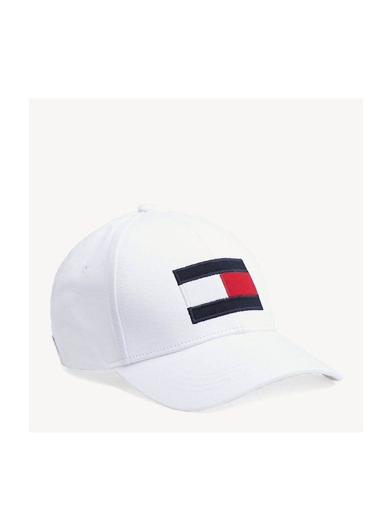 Biała Czapka TOMMY Hilfiger Big Flag Cap AM0AM04508 104