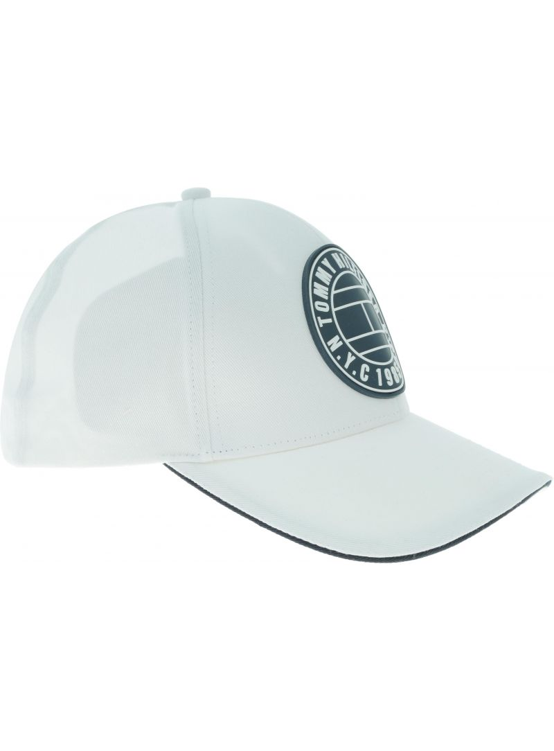 Biała Czapka TOMMY HILFIGER Round Patch Cap AM0AM04503 104