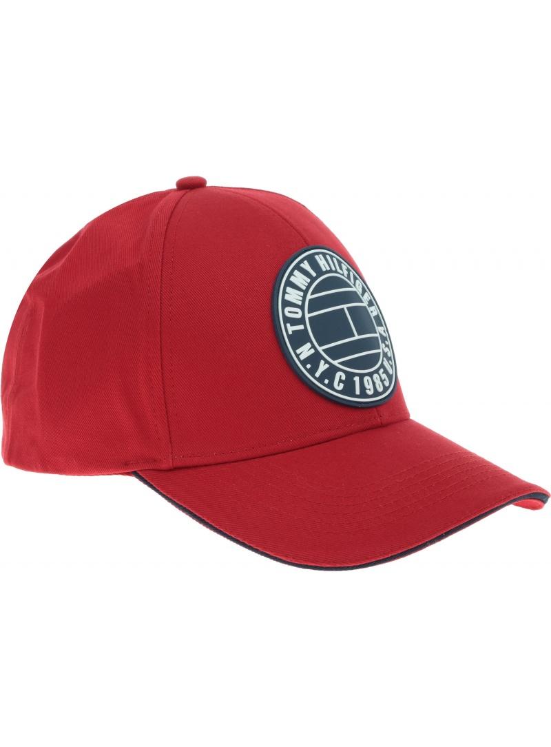 Czerwona Czapka TOMMY HILFIGER Round Patch Cap AM0AM04503 659