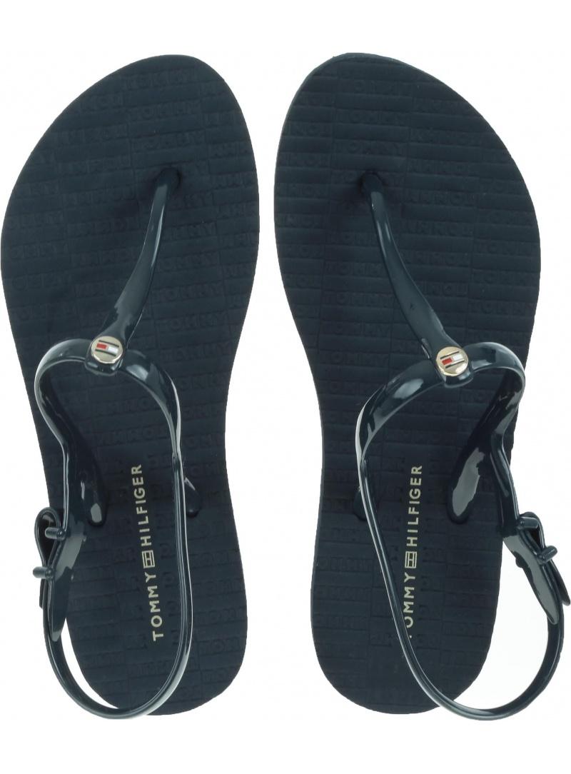 Gumowe Sandały Japonki Tommy Hilfiger FLAT STRAPPY BEACH FW0FW03923 403