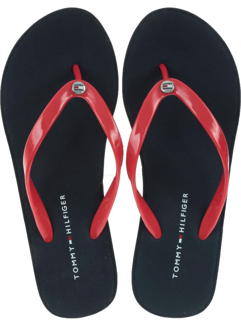 Japonki na koturnie Tommy Hilfiger Wedge Beach Sandal FW0FW04057 611