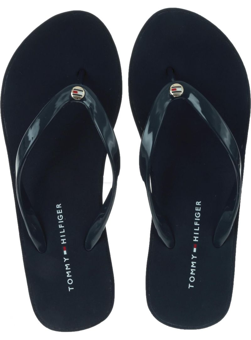 Japonki na koturnie Tommy Hilfiger Wedge Beach Sandal FW0FW04057 403
