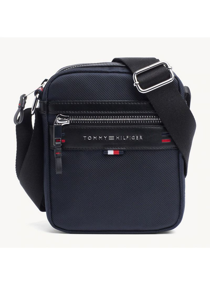 Granatowa Saszetka Męska TOMMY HILFIGER Elevated Mini Reporter AM0AM03186