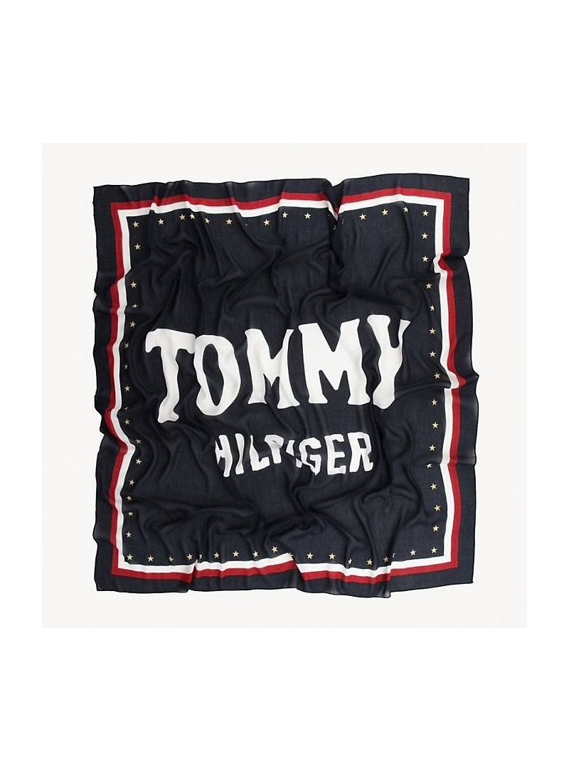 Chusta Tommy Hilfiger Bold Tommy Square AW0AW06595 901