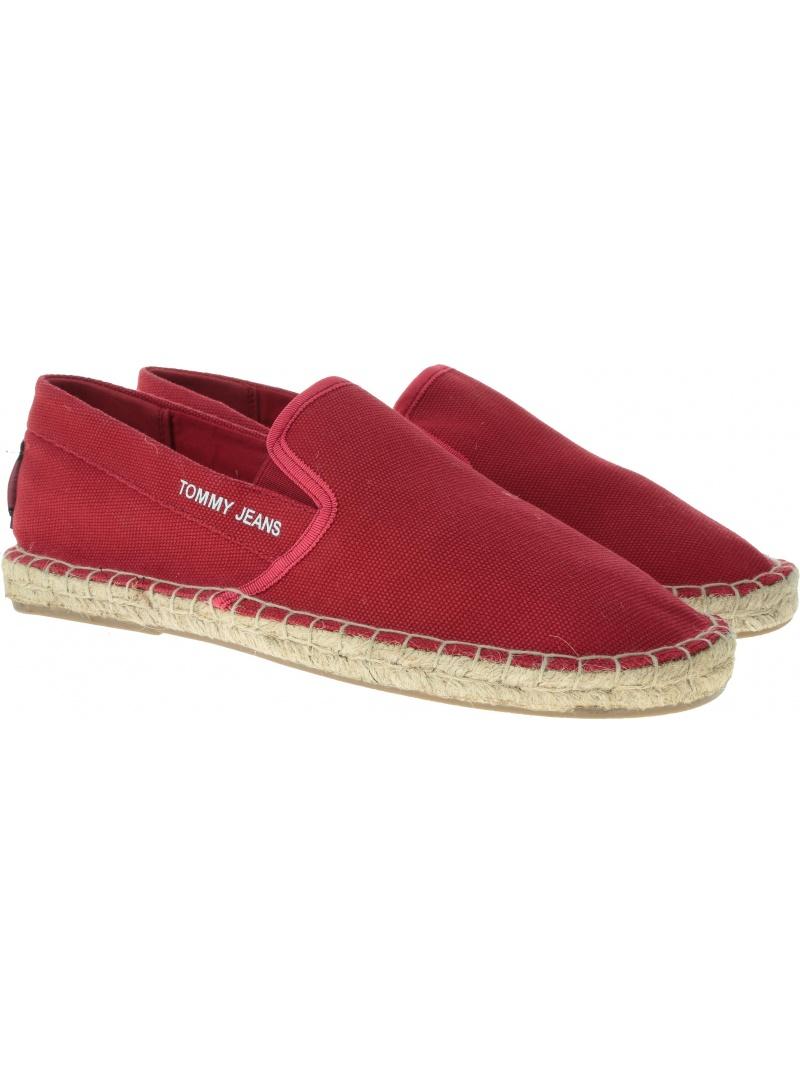 Czerwone Espadryle Tommy Jeans Flag Esp EM0EM00232 611
