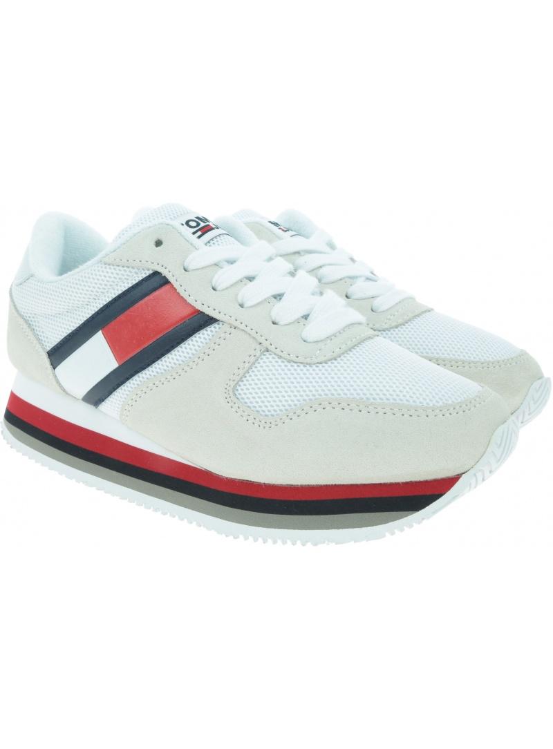 Białe Sneakersy TOMMY HILFIGER Retro Tommy Jeans Sn EN0EN00486 101