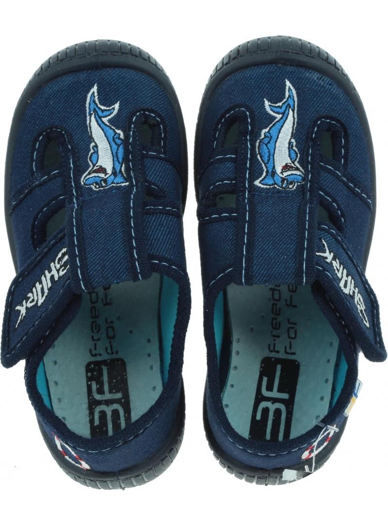 Kapcie dziecięce z delfinkiem 3F Freedom For Feet Saturn 2sk25/3