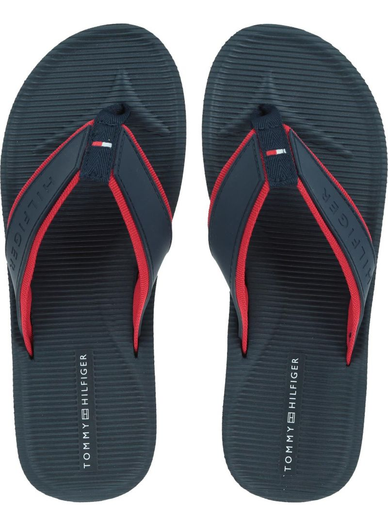 Granatowe Japonki TOMMY HILFIGER Moulded Footbed Beach FM0FM02086 403