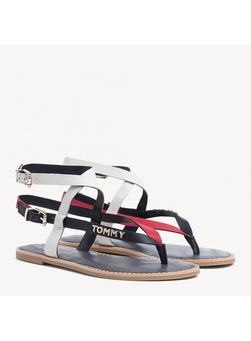 Kolorowe Sandały TOMMY HILFIGER Iconic Flat Strappy FW0FW04023 020