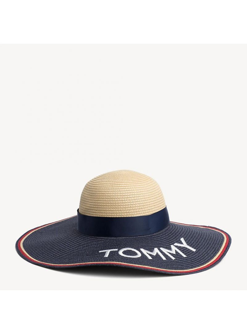 TOMMY HILFIGER Straw Fedora Hat AW0AW06575 902
