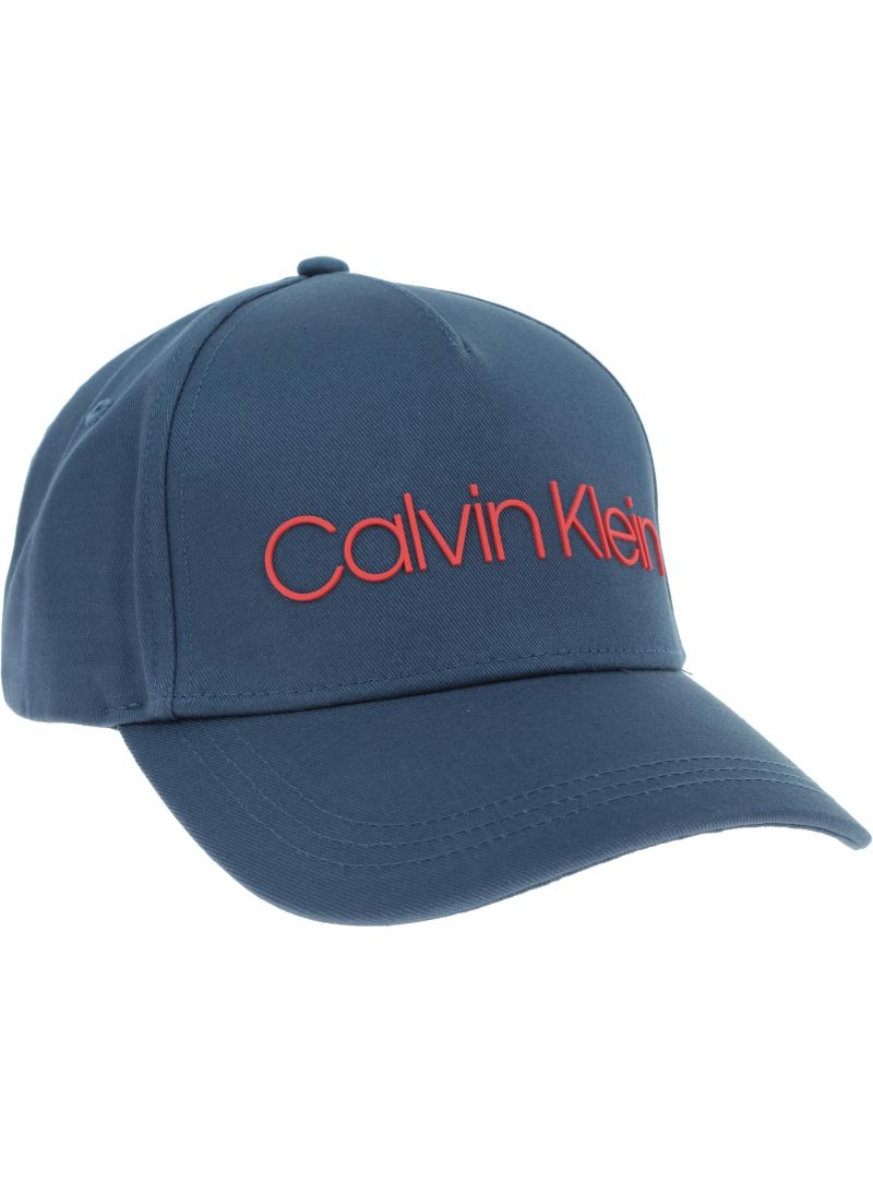 Niebieska CZAPKA CALVIN KLEIN Silver Contrast Trucker Cap K50K504665 463