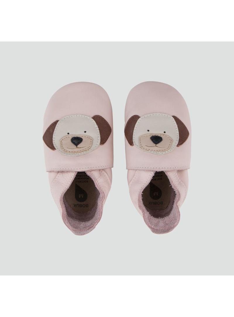 Różowe Kapcie z pieskiem BOBUX 1000-021-04 BLOSSOM PUPPY SOFT SOLE