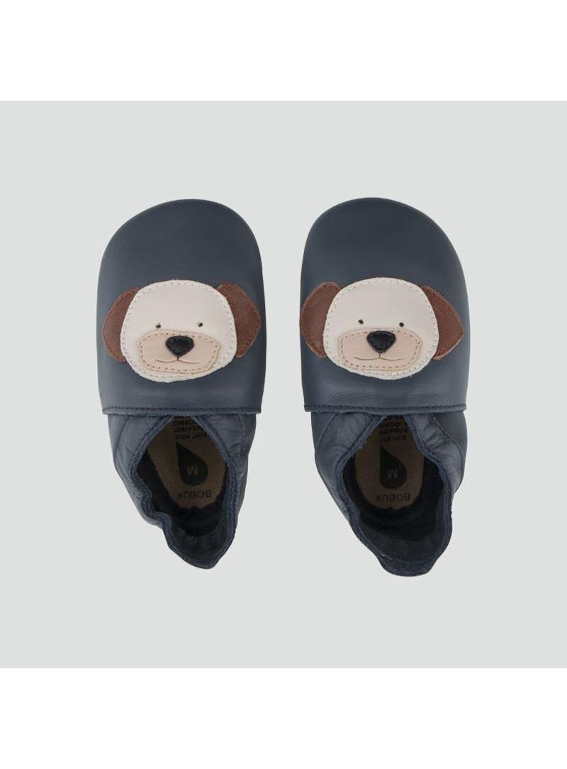 Granatowe Kapcie BOBUX 1000-021-01 NAVY PUPPY SOFT SOLE