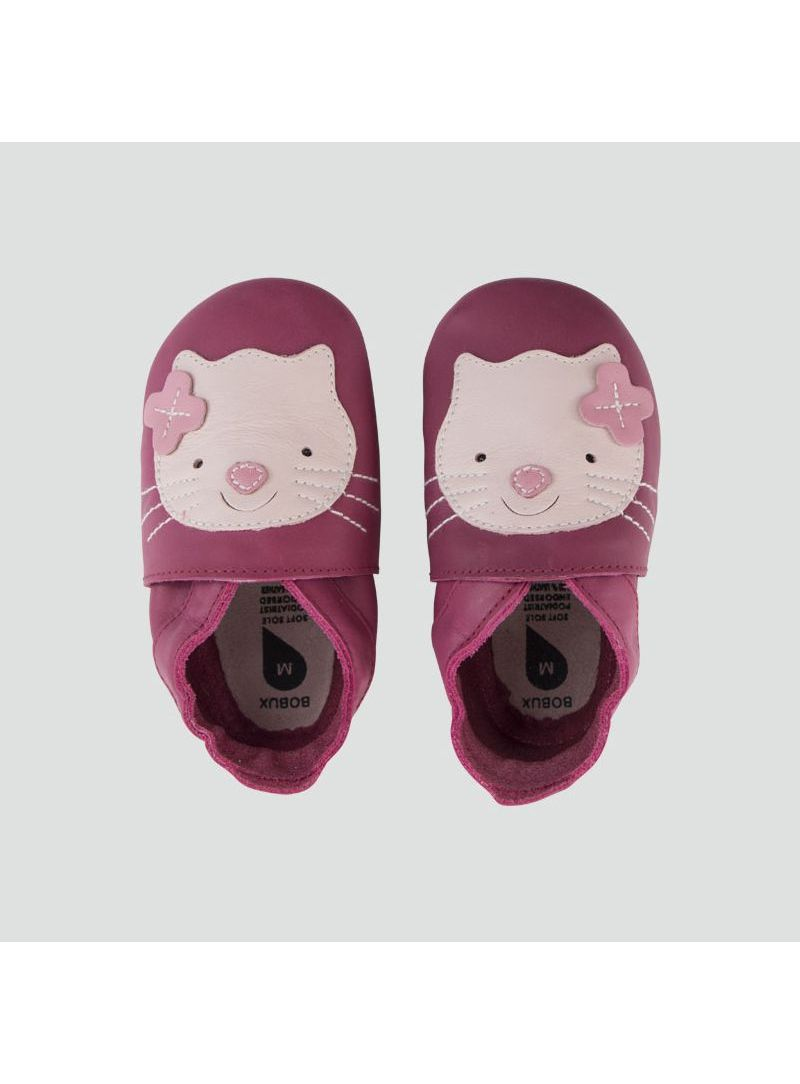 Różowe Kapcie z kotkiem BOBUX 1000-018-17 DARK PINK KITTEN