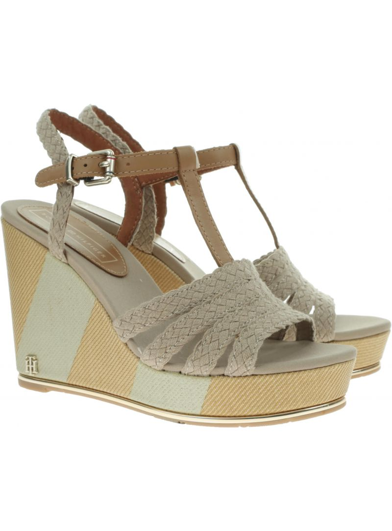 TOMMY HILFIGER Printed Wedge Sandal FW0FW03934 068