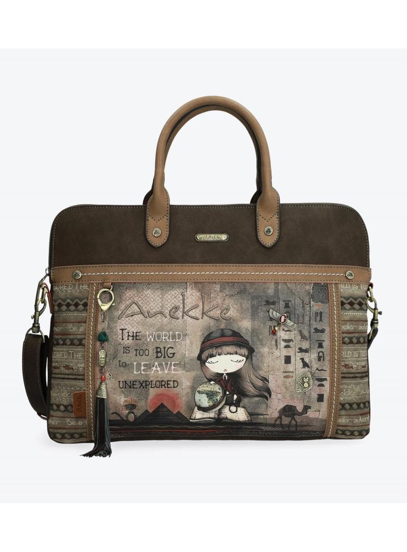 Torba na laptopa ANEKKE Egypt Brown Document Case 29894-10