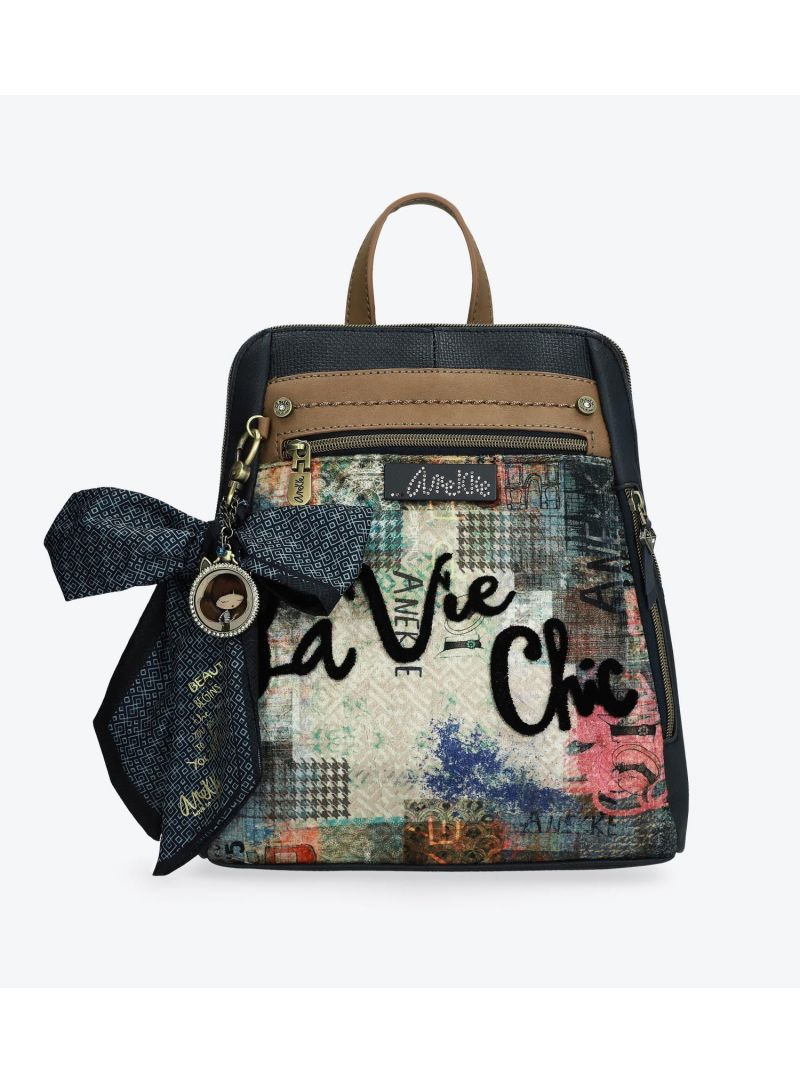 Plecak ANEKKE Couture Blue Textile Rucksack 29885-18