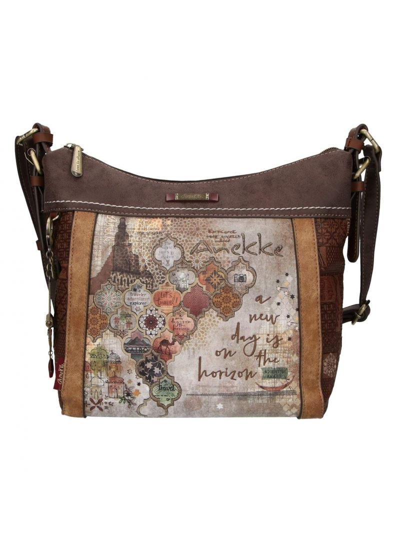 Listonoszka ANEKKE Egypt Brown Shoulder Bag 29892-07