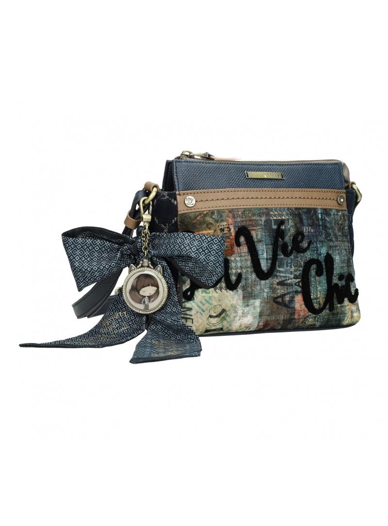 Listonoszka ANEKKE Couture Blue Textile Shoulder Bag 29882-60
