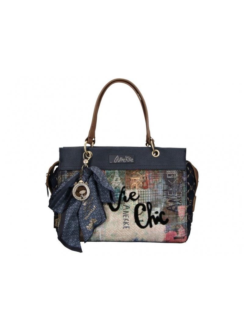 ANEKKE Blue Textile 2 Handles Bag 29881-70