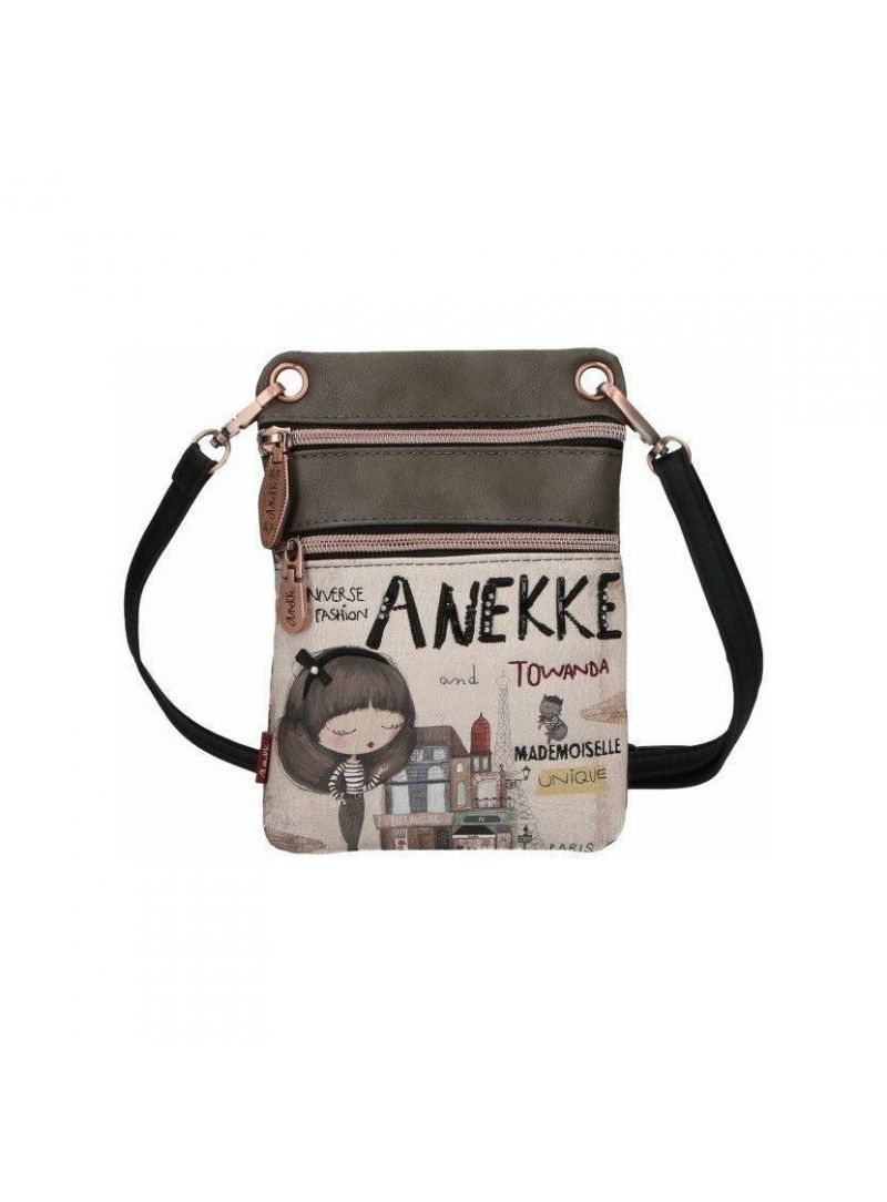 Listonoszka / Nerka ANEKKE Couture Beige Synthetic Shoulder Bag 29888-05