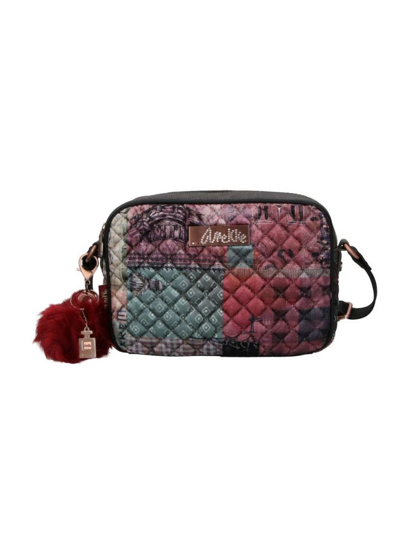 Listonoszka ANEKKE Couture Pink Textile Shoulder Bag 29882-14