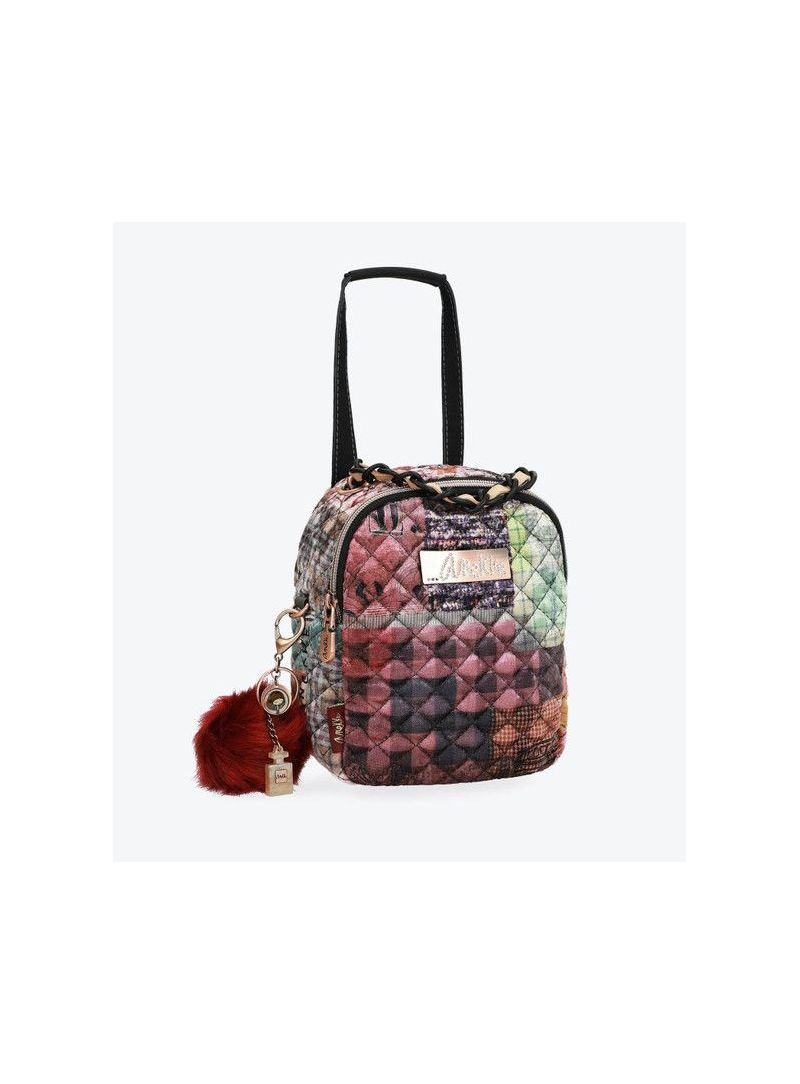 Plecak ANEKKE Couture Pink Textile Backpack 29885-45