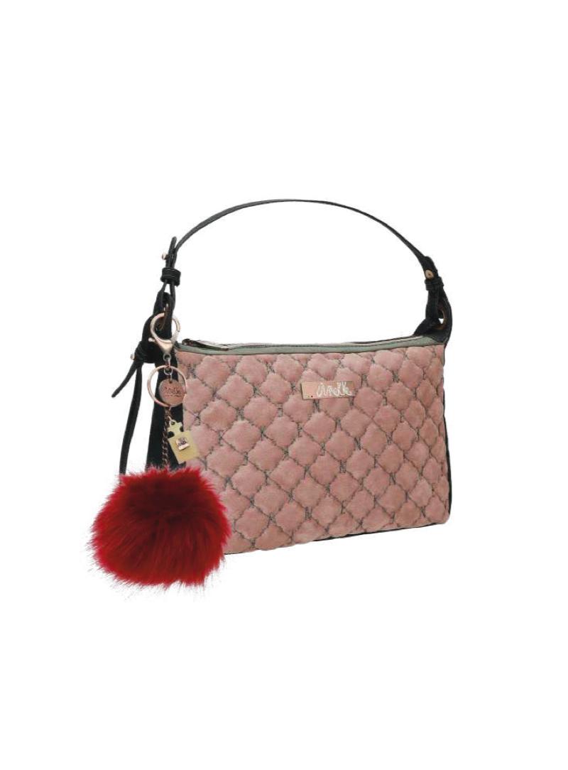 Listonoszka ANEKKE Couture Pink Textile Shoulder Bag 29882-74