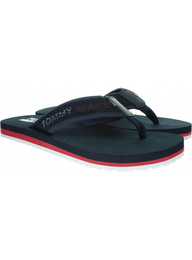 Granatowe Japonki TOMMY HILFIGER Tommy Jeans Tech Mesh Sandal EM0EM00300