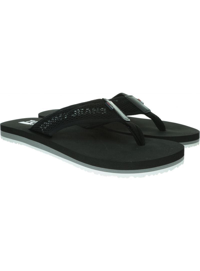 Czarne Japonki TOMMY HILFIGER Tommy Jeans Tech Mesh Sandal EM0EM00300 990