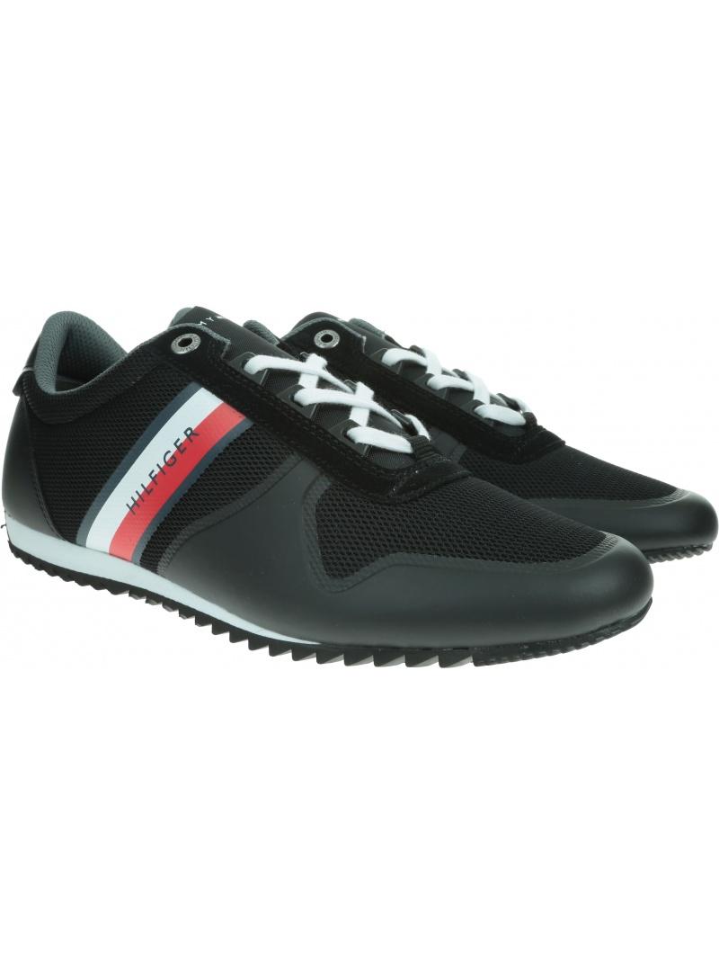 Czarne Sneakersy TOMMY HILFIGER Essential Modern Mesh Runner FM0FM02270 990