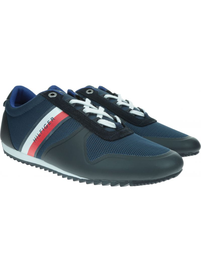 Granatowe Sneakersy TOMMY HILFIGER Essential Modern Mesh Runner FM0FM02270