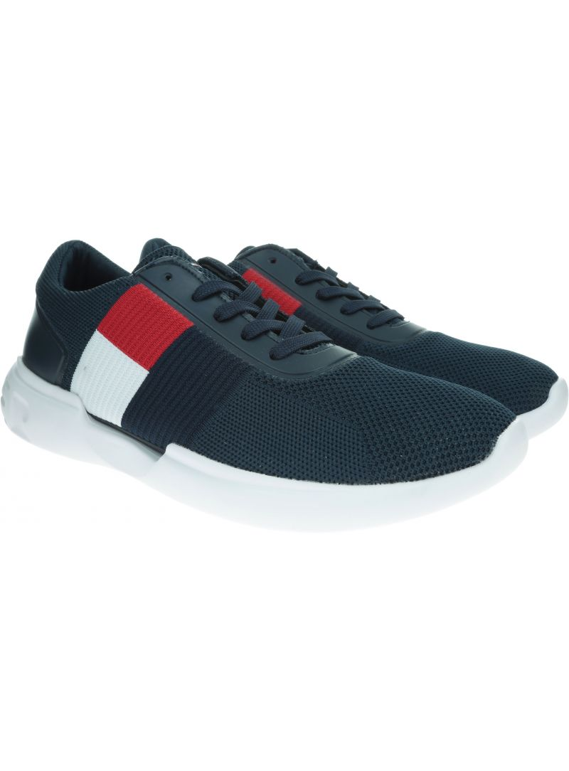 Granatowe Sneakersy TOMMY HILFIGER Lightweight Runner Flag Knit FM0FM02275