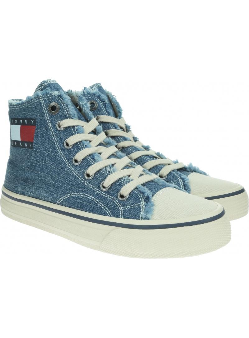 Jeansowe Trampki TOMMY HILFIGER Hightop Tommy Jeans Sneaker EN0EN00589 404