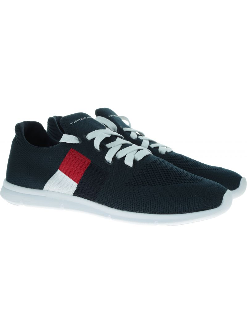 Granatowe Sneakersy TOMMY HILFIGER Knitted Flag Light Sneaker FW0FW04144