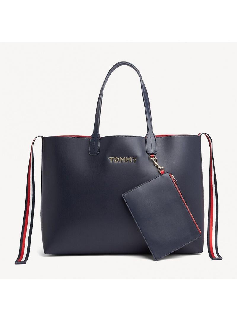 Granatowa Shopperka TOMMY HILFIGER Iconic Tommy Tote AW0AW06833 413