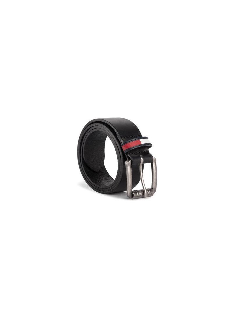 Czarny Pasek Męski TOMMY HILFIGER Tjm Roller Logo Belt AM0AM04841 002