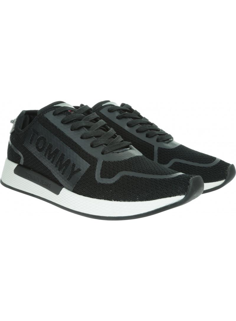 Czarne Sneakersy TOMMY HILFIGER Technical Details Fl EM0EM00289 990