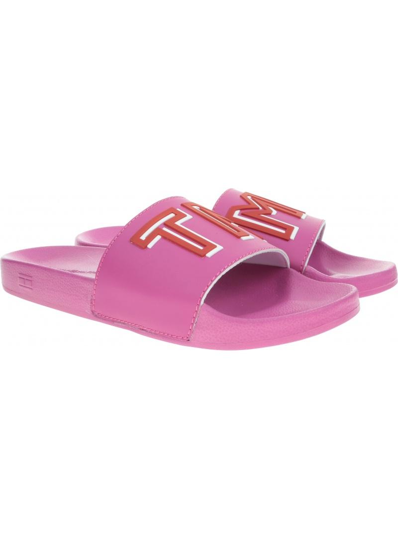 Różowe Klapki TOMMY HILFIGER Colorful Tommy Pool FW0FW04239 521