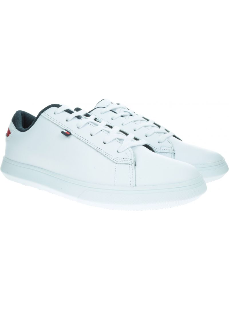 Białe Sneakersy TOMMY HILFIGER Essential Leather De FM0FM02272 100
