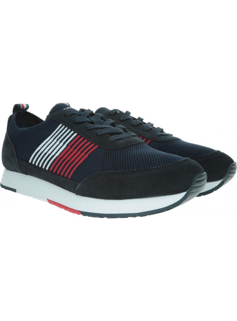 Granatowe Sneakersy TOMMY HILFIGER Eva Knit Runner FM0FM02401 403