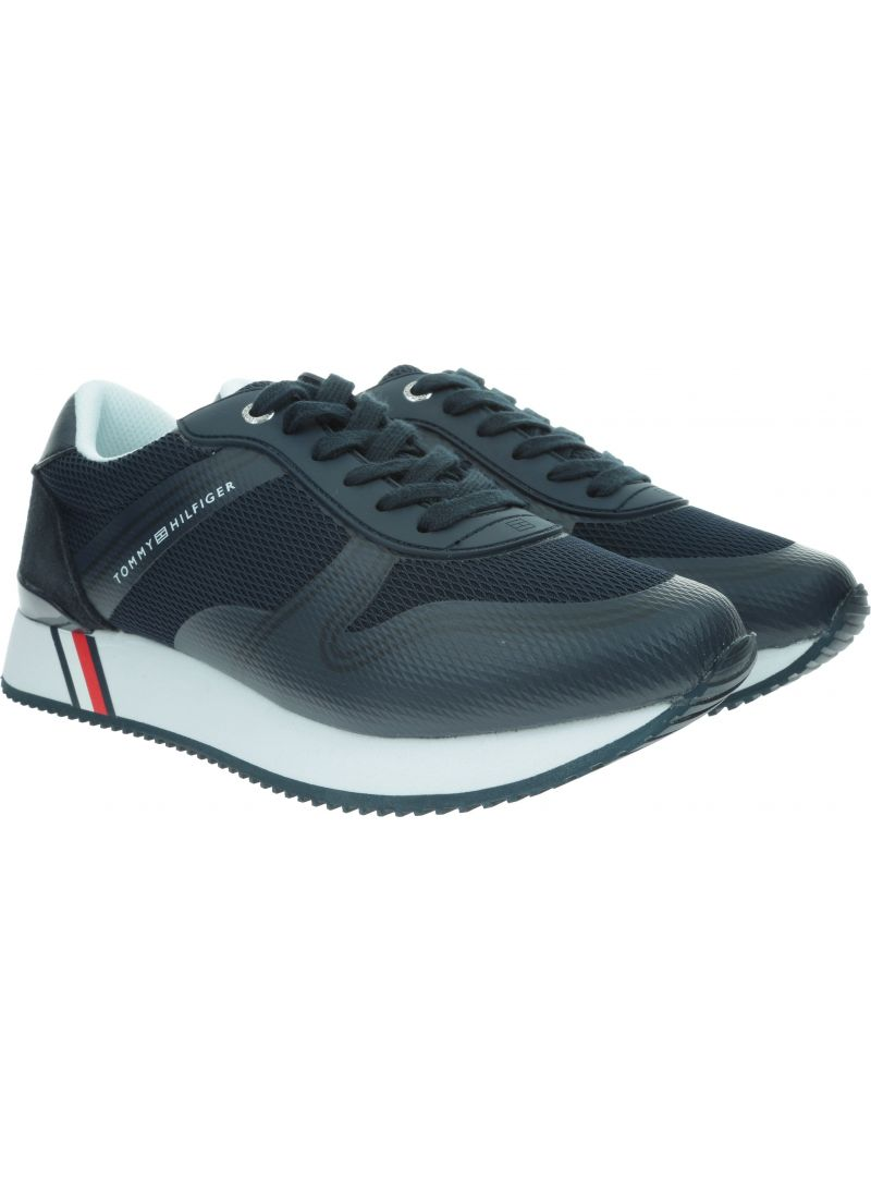 Granatowe Sneakersy TOMMY HILFIGER Active City Sneaker FW0FW04137 403