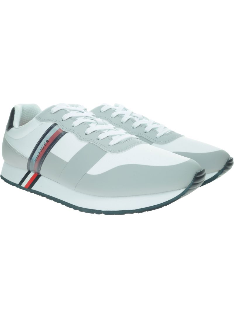 Białe Sneakersy TOMMY HILFIGER City Modern Material FM0FM02283 100