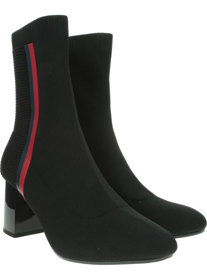 TOMMY HILFIGER Knitted Heeled Boot FW0FW04157 990