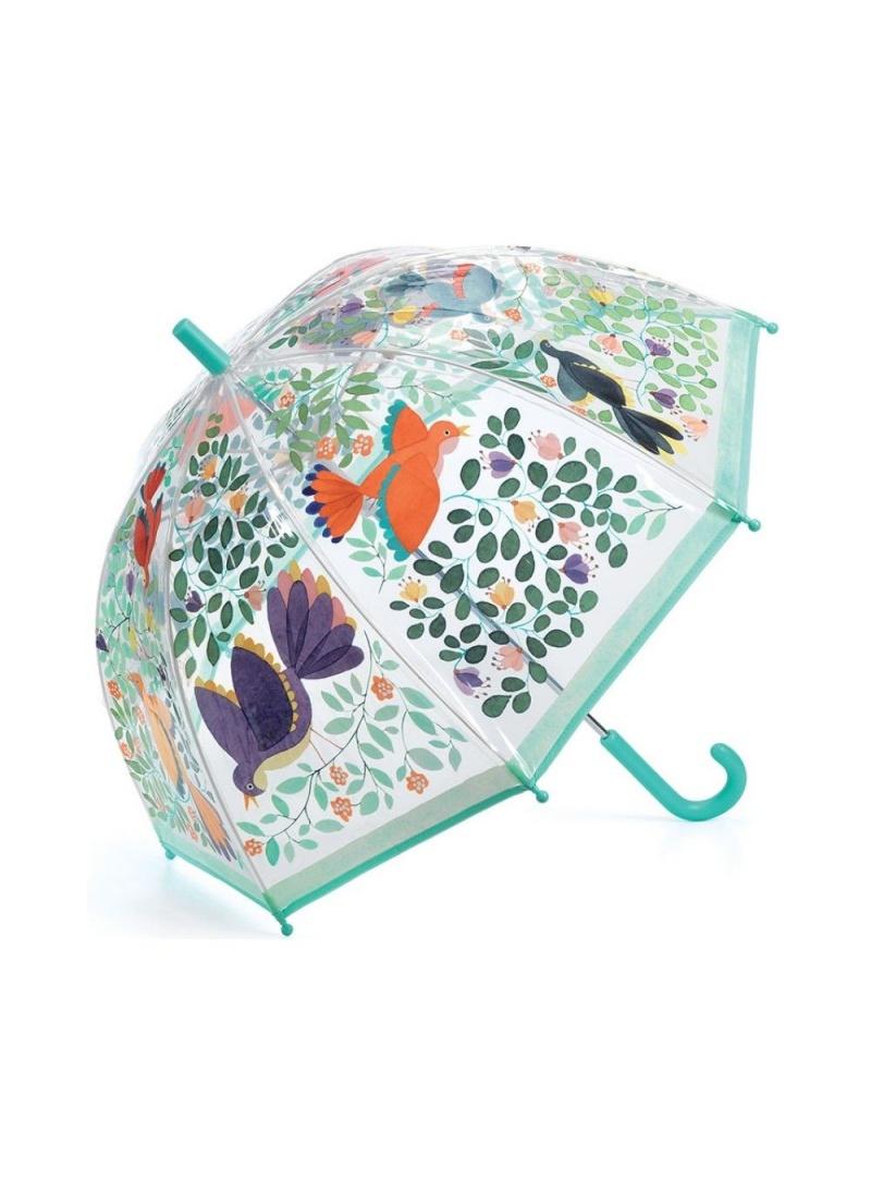 Kolorowa Transparentna Parasolka DJECO 4804 Ptaki i Kwiaty