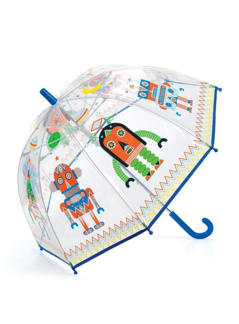 Transparentna Parasolka Dziecięca z Robotami DJECO 04806